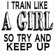 Train like a girl Framed Print