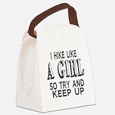 Hike Like a Girl Canvas Lunch Bag