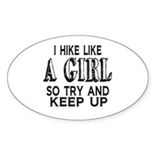 Hike Like a Girl Decal