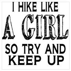 Hike Like a Girl Poster
