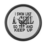 Girl swimmer Giant Clocks