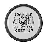 Girl swimmer Giant Clocks