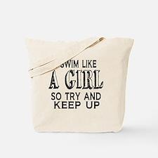 Swim Like a Girl Tote Bag