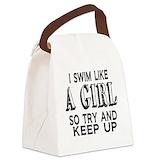 Swim like a girl Lunch Sacks