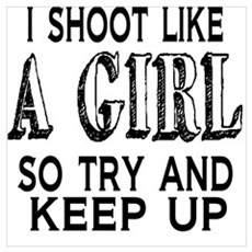 Shoot Like a Girl Framed Print