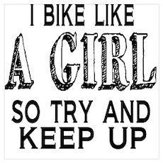 Bike Like a Girl Poster