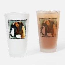 Boxer Dog Drinking Glass