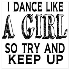 Dance Like a Girl Framed Print