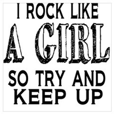 Rock Like a Girl Framed Print