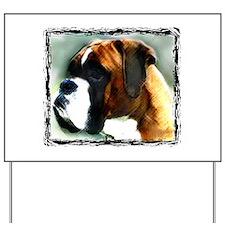 Boxer Dog Yard Sign
