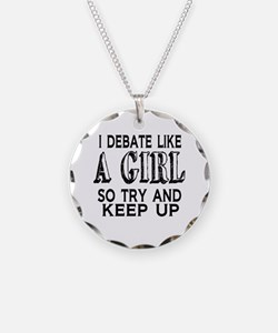 Debate Like a Girl Necklace