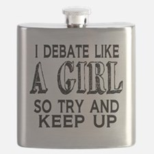 Debate Like a Girl Flask