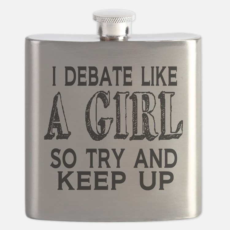 Debate Like a Girl Flask