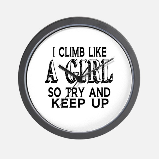 Climb Like a Girl Wall Clock