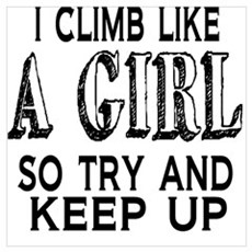 Climb Like a Girl Framed Print