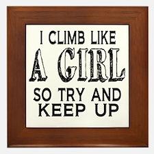 Climb Like a Girl Framed Tile