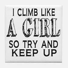 Climb Like a Girl Tile Coaster