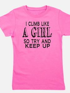 Climb Like a Girl Girl's Tee