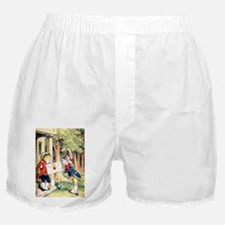 A Royal Invitation in Wonderland Boxer Shorts