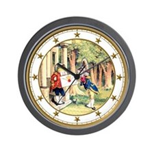 A Royal Invitation in Wonderland Wall Clock