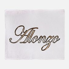 Gold Alonzo Throw Blanket