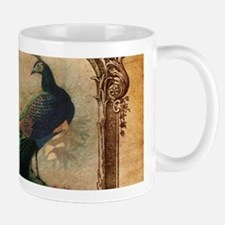 romantic paris vintage peacock Mugs