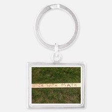 Stick With Math Landscape Keychain