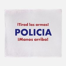 Policia Throw Blanket