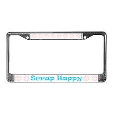 Scrap Happy License Plate Frame