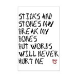 Sticks and Stones May Break My Bones Mini Poster P