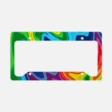 Hipster candy rainbow swirls License Plate Holder