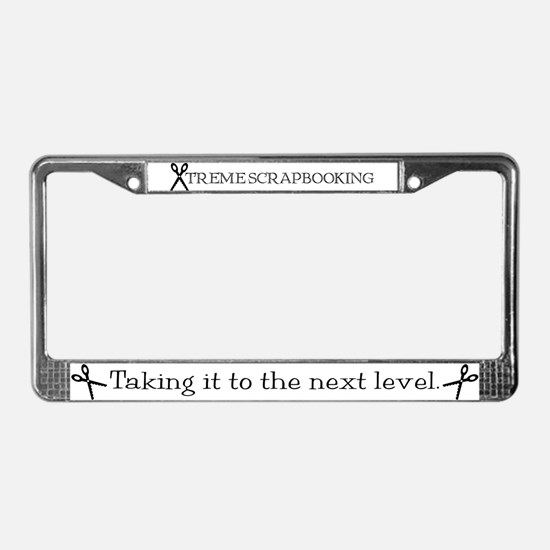 Xtreme Scrapbooking License Plate Frame