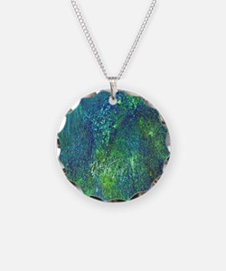 Blue Green Spackle Necklace