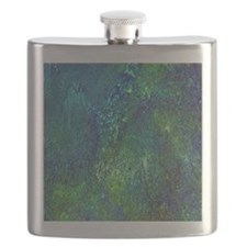 Blue Green Spackle Flask
