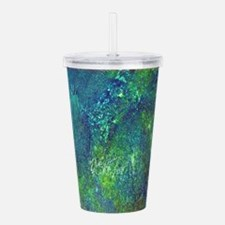 Blue Green Spackle Acrylic Double-wall Tumbler