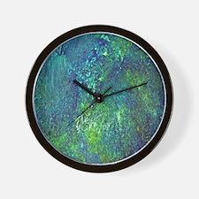 Blue Green Spackle Wall Clock