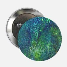 "Blue Green Spackle 2.25"" Button"