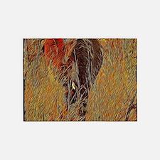 wildlife art african elephant 5'x7'Area Rug