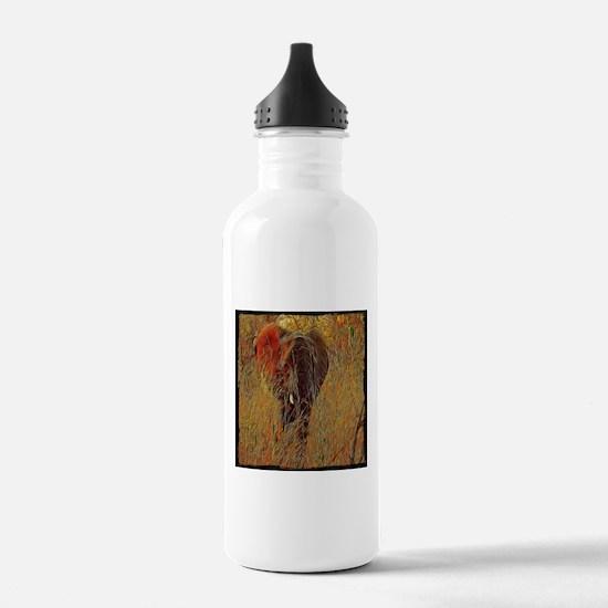 wildlife art african e Water Bottle