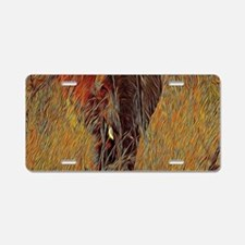 wildlife art african elepha Aluminum License Plate