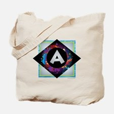 A - Letter A Monogram - Black Diamond A - Tote Bag