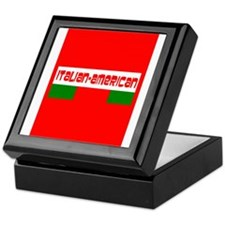 Tricolore Red Italian American Domini Keepsake Box