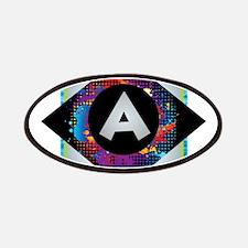 A - Letter A Monogram - Black Diamond A - Le Patch
