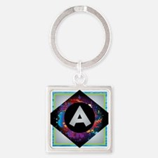 A - Letter A Monogram - Black D Keychains