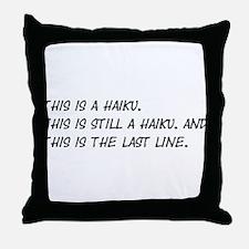 This Is a Haiku Throw Pillow