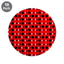 "Black Red Cool Shapes Carla' 3.5"" Button (10 pack)"