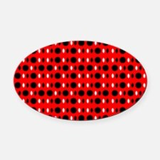 Black Red Cool Shapes Carla's Fave Oval Car Magnet