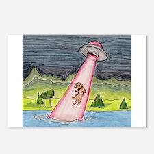 Unique Ferret art Postcards (Package of 8)