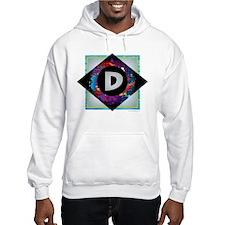 D - Letter D Monogram - Black Di Hoodie