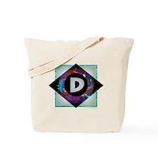 D - Letter D Monogram - Black Diamond D - Tote Bag
